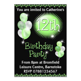 12th Birthday Party Invitation