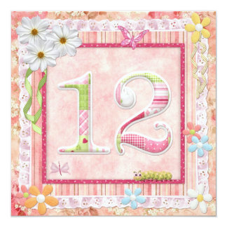12th birthday party scrapbooking style card