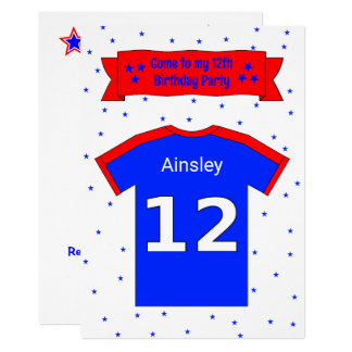 12th birthday personalized party invitation