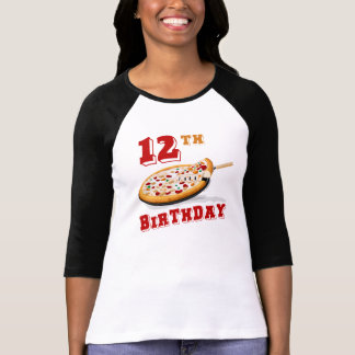 12th Birthday Pizza Party T-Shirt