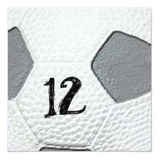 12th Birthday Soccer themed Invitations
