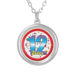12th Birthday Today v2 Personalized Necklace