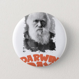 12th February - Darwin Day 6 Cm Round Badge