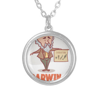 12th February - Darwin Day - Appreciation Day Silver Plated Necklace