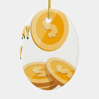 12th February - Lost Penny Day - Appreciation Day Ceramic Ornament
