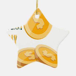 12th February - Lost Penny Day - Appreciation Day Ceramic Star Decoration