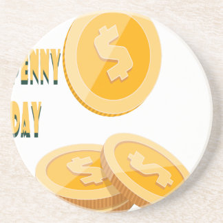 12th February - Lost Penny Day - Appreciation Day Coaster