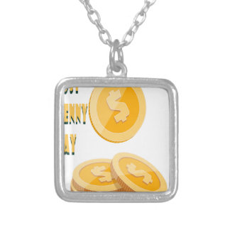 12th February - Lost Penny Day - Appreciation Day Silver Plated Necklace