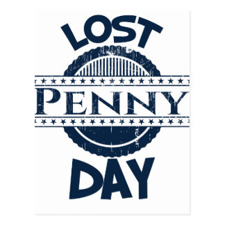 12th February - Lost Penny Day Postcard