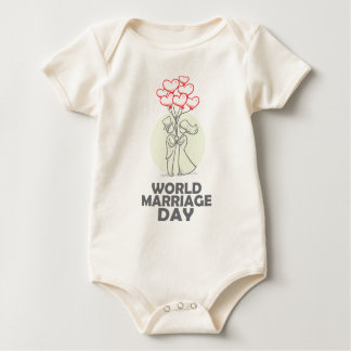 12th February - World Marriage Day Baby Bodysuit