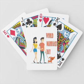 12th February - World Marriage Day Bicycle Playing Cards