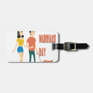 12th February - World Marriage Day Luggage Tag