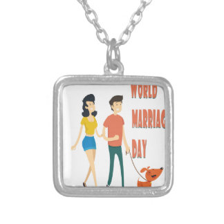 12th February - World Marriage Day Silver Plated Necklace