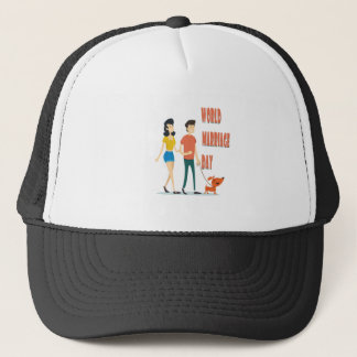 12th February - World Marriage Day Trucker Hat