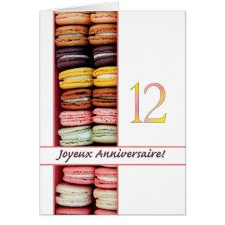 12th French Birthday Macaron-Joyeux Anniversaire! Card