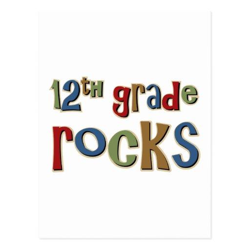 12th Grade Rocks Twelfth Postcard