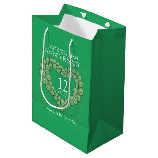 12th jade wedding anniversary photo gift bag