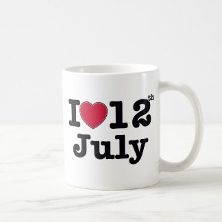 12th july my day of birthday coffee mug