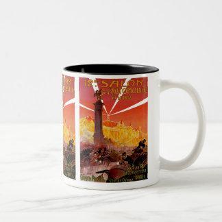 12th Salon de L'Automobile Two-Tone Coffee Mug