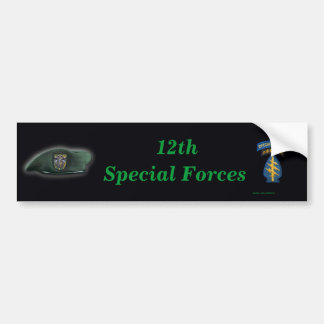 12th special forces flash iraq Bumper Sticker vet