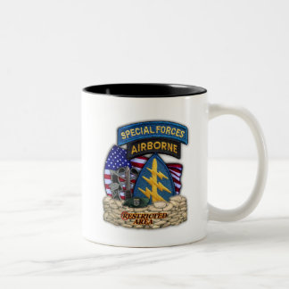 12th Special Forces Group Green Berets SF SFG Vet Two-Tone Coffee Mug