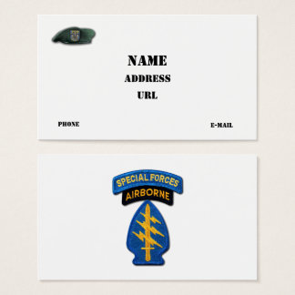 12th special forces group SF SFG Veterans Vets Business Card