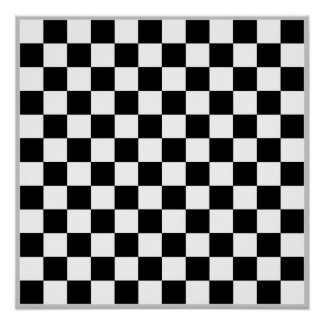 12x12 Checkers TAG Board Fridge Magnet Game Print