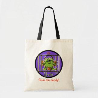 12x12-littlemonster-circle budget tote bag