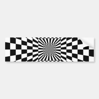 1309062598_Vector_Clipart black white OPTICAL ILLU Bumper Sticker