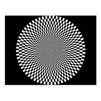 1309144895_Vector BLACK WHITE OPTICAL ILLUSIONS Postcard