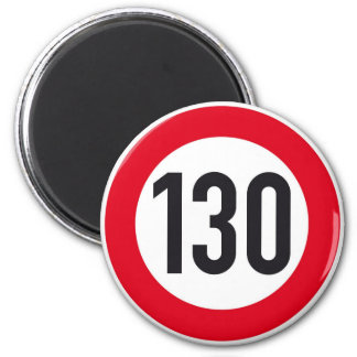 130 kph Autobahn Highway Sign Magnet