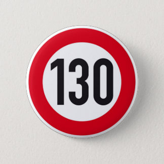 130 kph European highway sign button