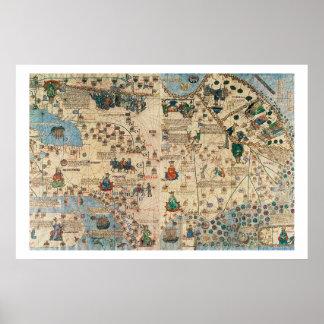 131-0058260/1 Catalan Atlas: Detail of Asia, by Ja Poster