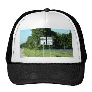 1337 INDIANA HIGHWAY SIGNS TRUCKER HATS