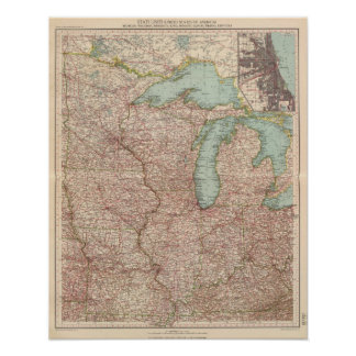 13435 Mich, Wis, Minn, Ia, Mo, Ill, Ind, Ky Posters