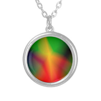 134Abstract Background_rasterized Silver Plated Necklace