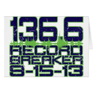 136.6 Record Breaker Greeting Card