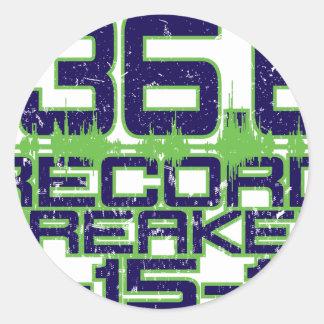136.6 Record Breaker Round Sticker