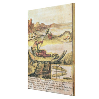 137-627922 Illustration from a history of Chile sh Canvas Print