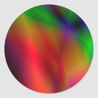 138Abstract Background_rasterized Classic Round Sticker