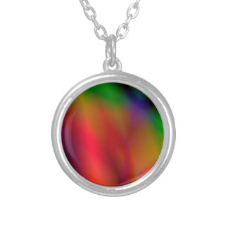 138Abstract Background_rasterized Silver Plated Necklace