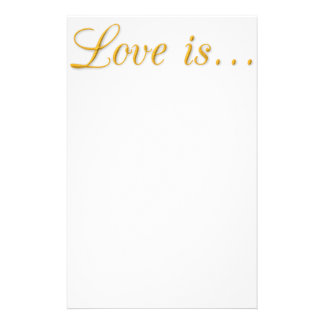 1397444552 LOVE IS GOLD TRIM TEXT GRAPHIC STATIONERY DESIGN