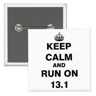 13.1 Half Marathon 15 Cm Square Badge