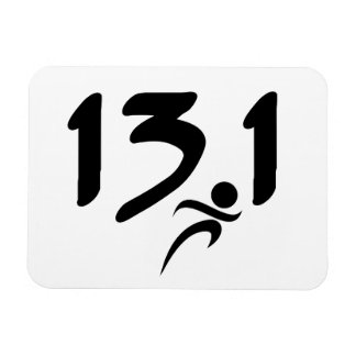 13.1 half-marathon rectangle magnet