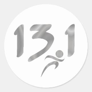 13.1 half-marathon stickers