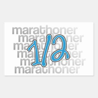 13.1 half marathoner rectangular stickers