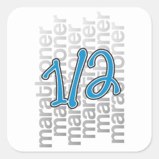 13.1 half marathoner square stickers