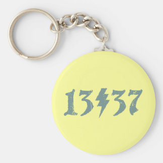 13/37 BASIC ROUND BUTTON KEY RING