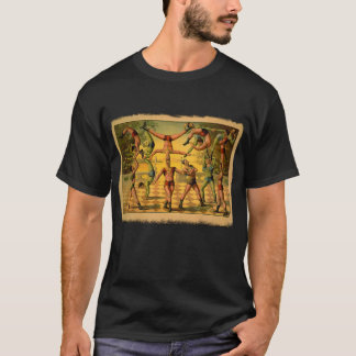 13 Acrobats Old Circus Poster on Tshirts