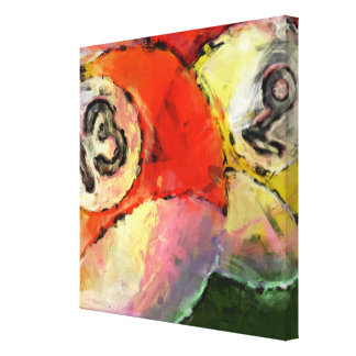 13 and 9 Billiard Balls Abstract Canvas Print
